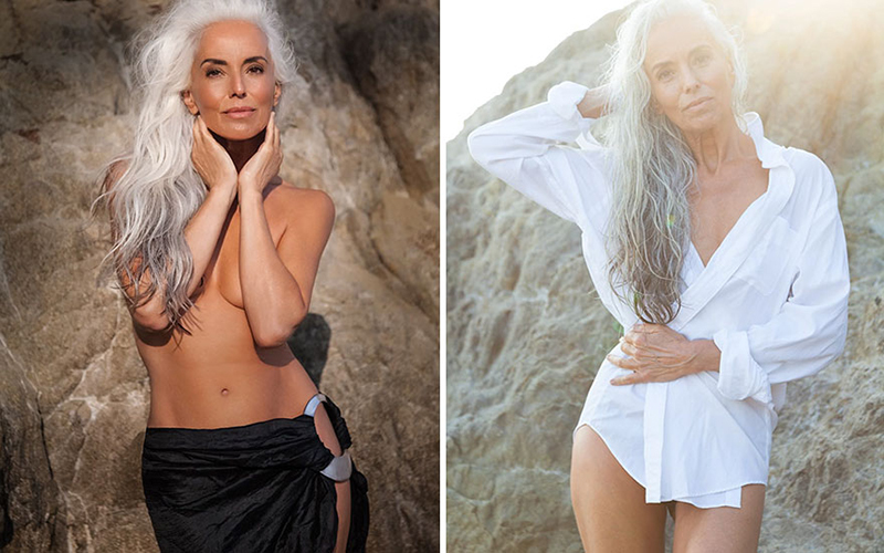 61 year old swim model beautiful