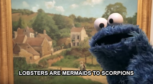 cookie monster shower thoughts