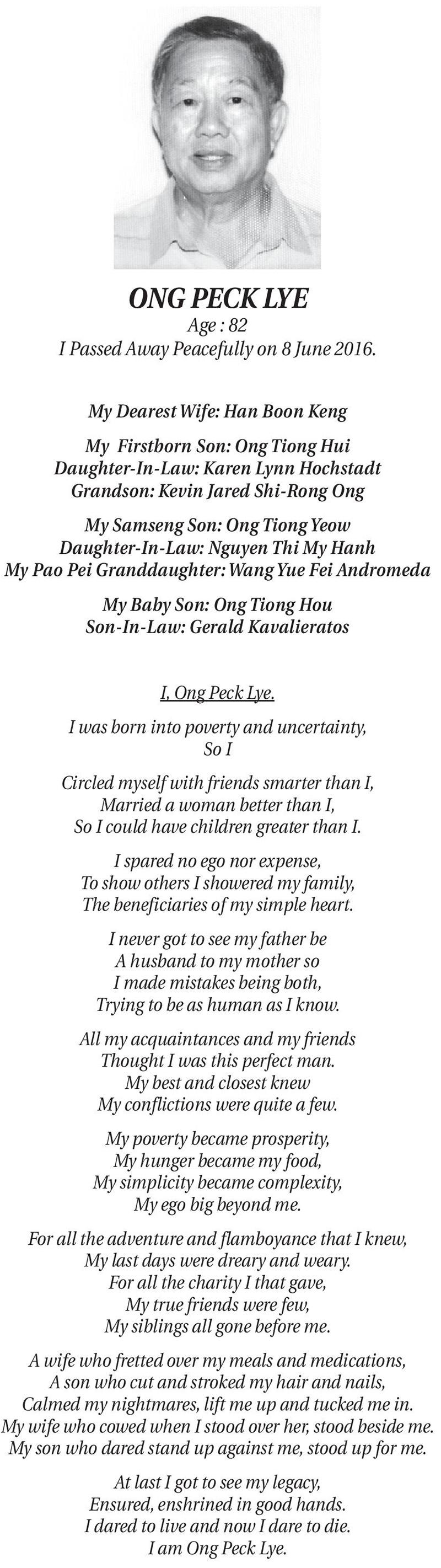 powerful obituary love