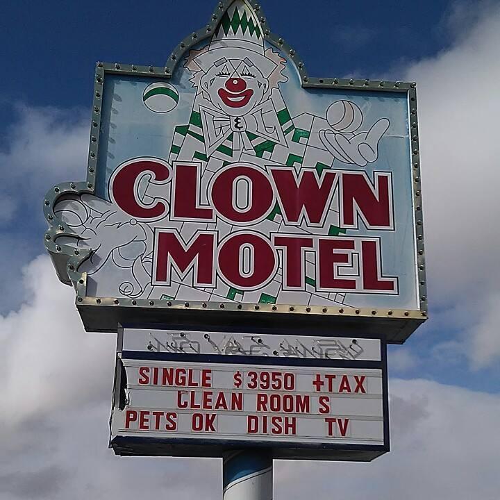 clown motel Nevada creepy