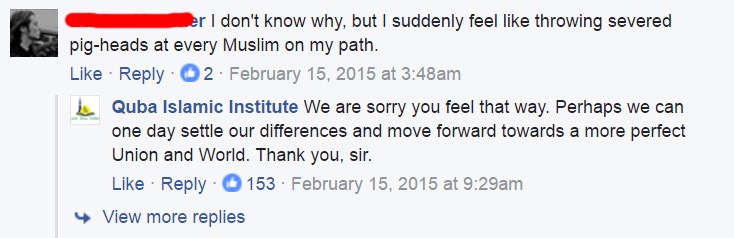 mosque responds to hate with love