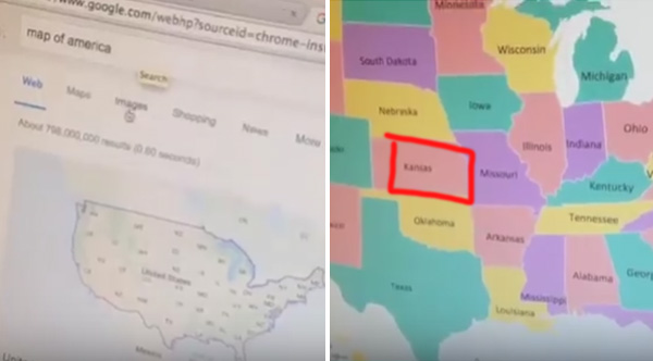 Map Of America Kansas.Confused Woman Demands Answer For This U S Map Issue Americans Wish