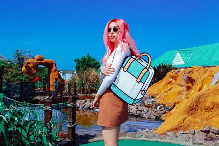 bags and purses look like cartoons