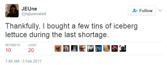 lettuce shortage funny twitter responses