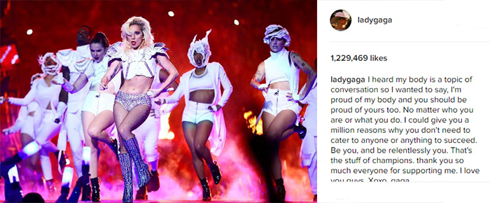 lady gaga response to body shamers