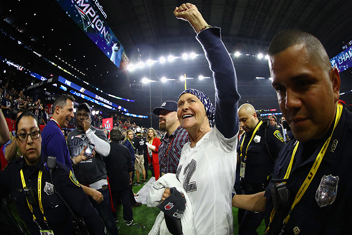 Brady wins super bowl for Mom chemo
