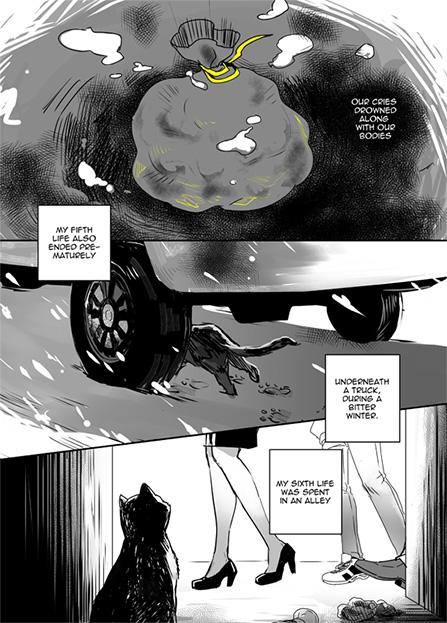 cat 9 lives comic