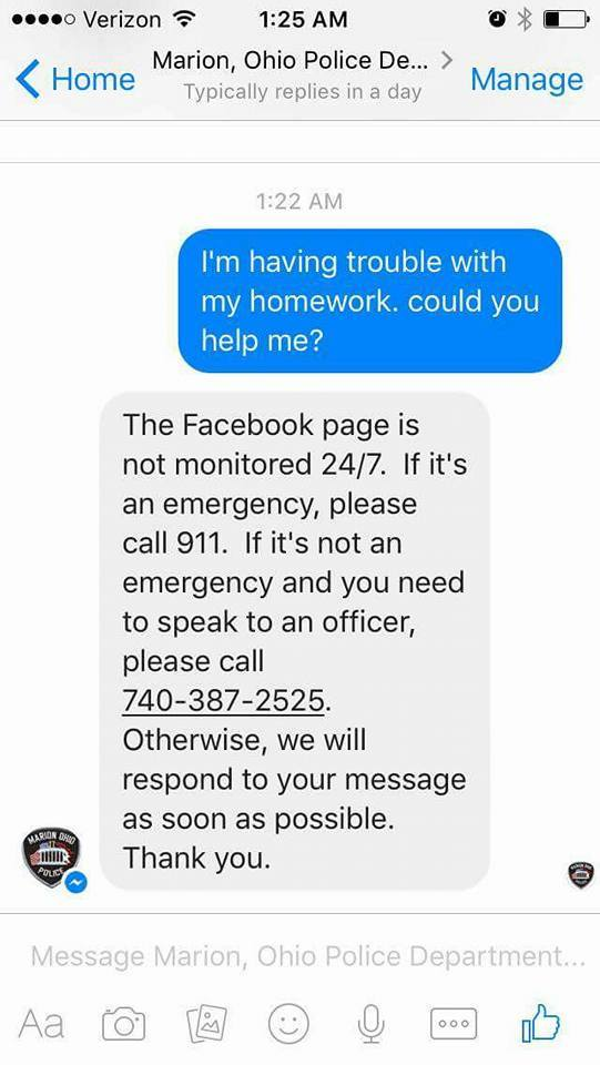 Police Help A 5th-Grader With Her Math Homework After She Messages ...