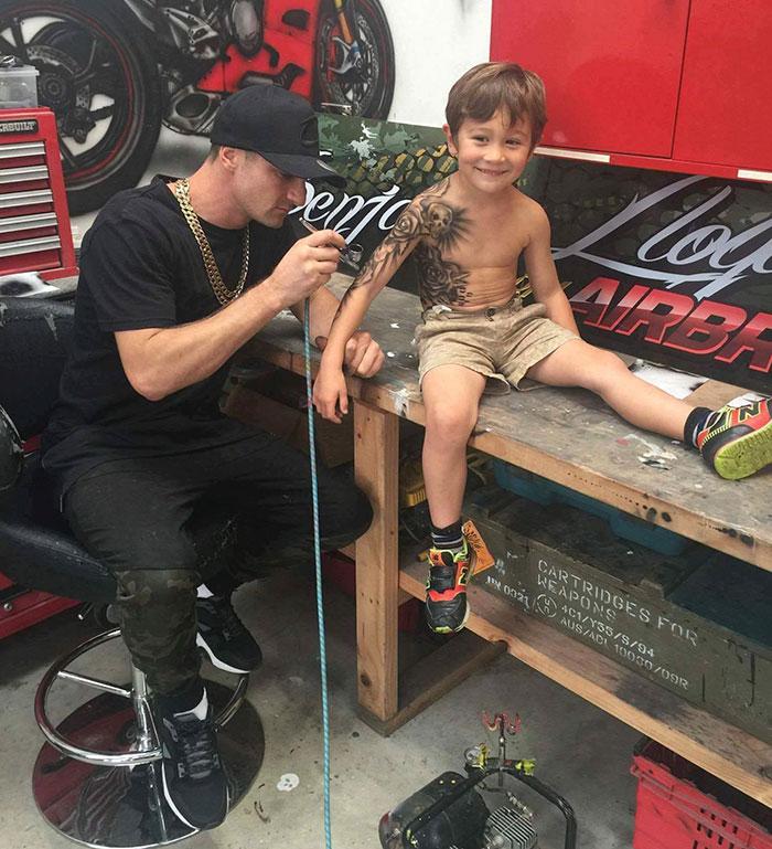 tattoo artist temporary tattoos sick kids