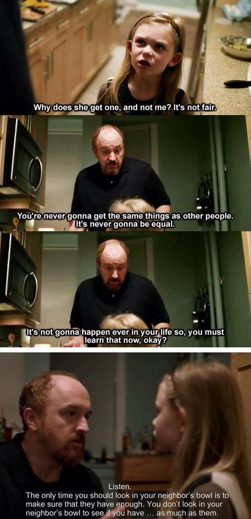 Louis CK on fairness bowls