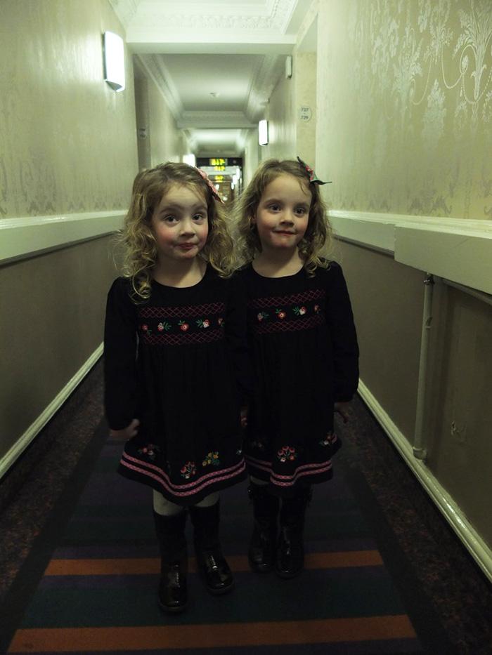 twins shining prank hotel