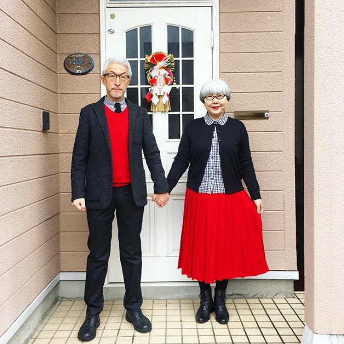 married couple wears matching outfits every day