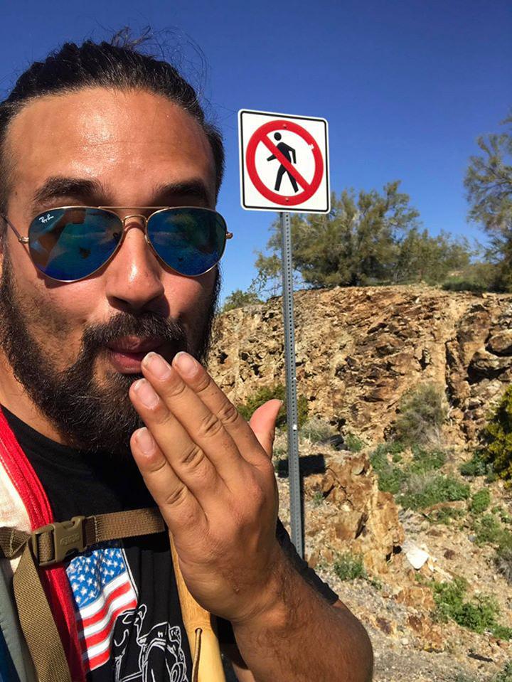 American hero walking 2200 miles Ernesto Rodriguez