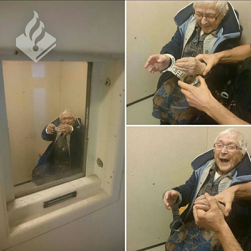 good news old woman bucket list arrested