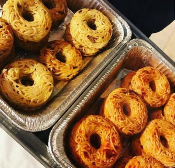 spaghetti donuts