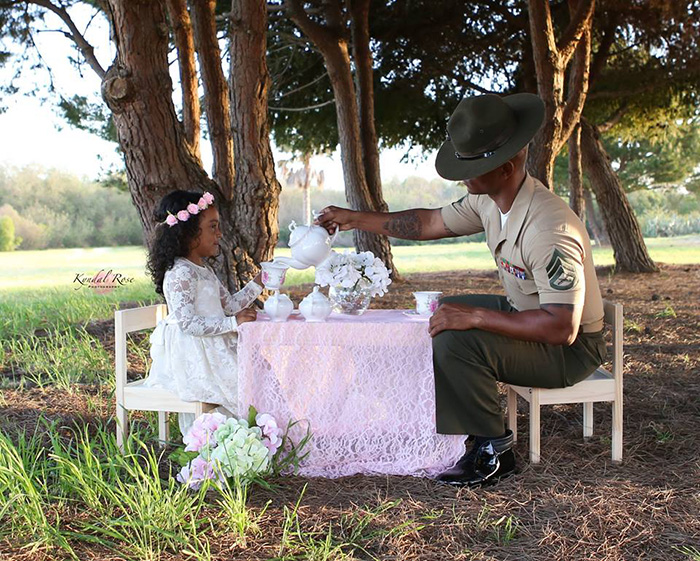 marine dad tea party
