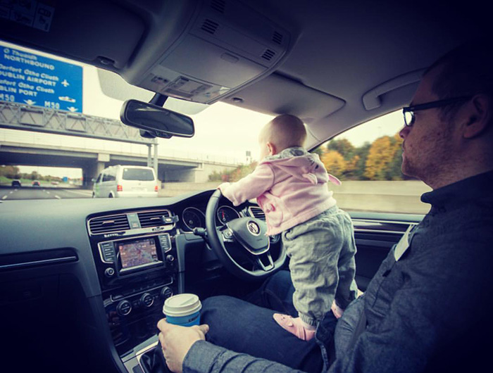 dad photoshops kid into dangerous situations funny