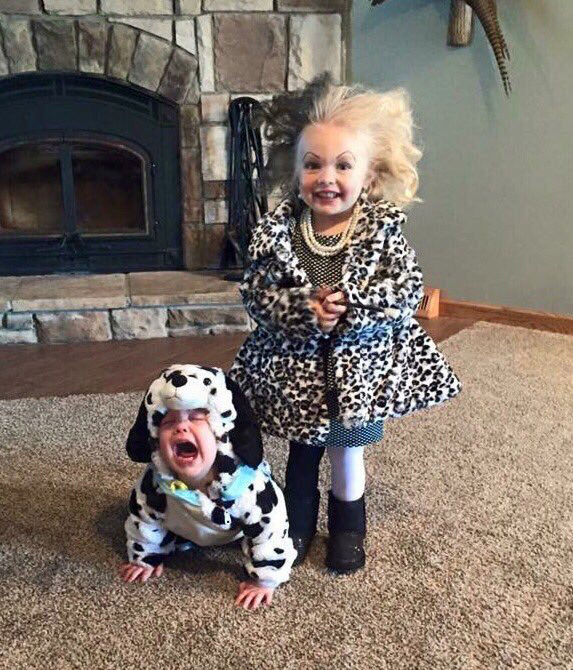 cruella deville kid with baby costume