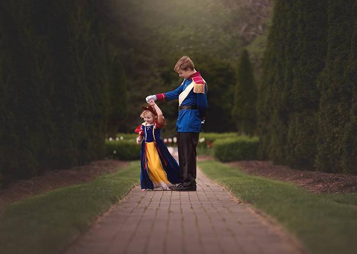 prince charming brother sister photo shoot