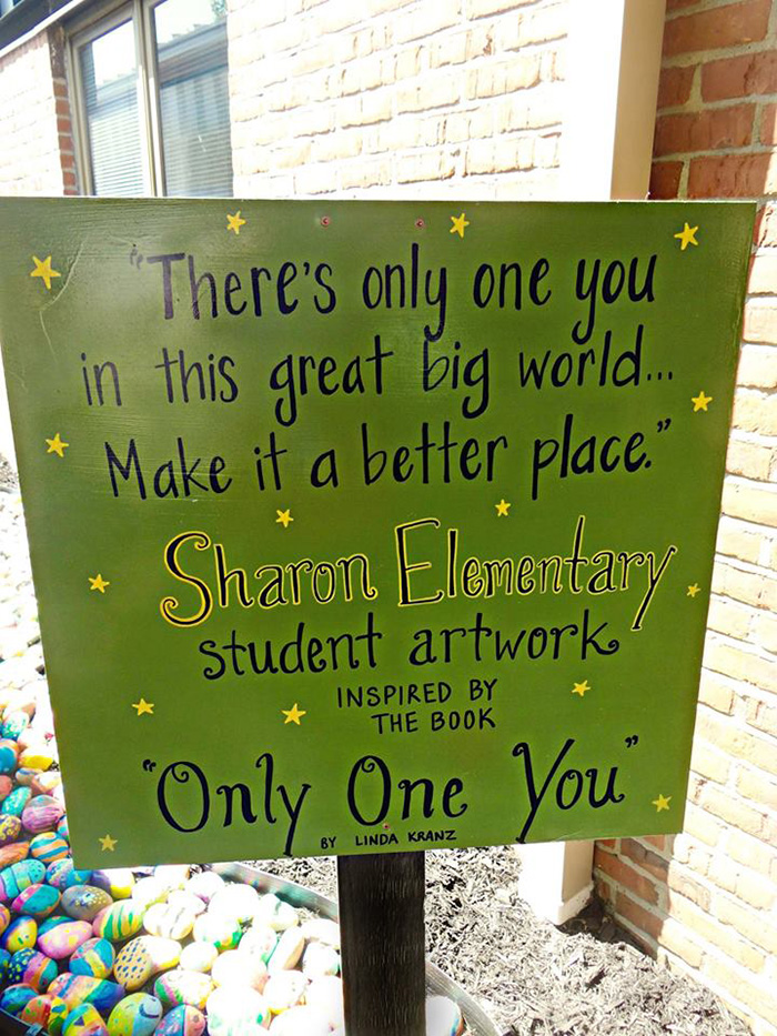 only one you kids school paint rocks