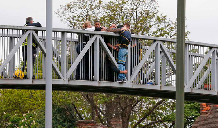 Good Samaritans Hold On To Suicidal Man For 2 Hours Until