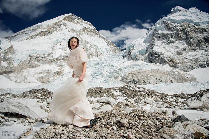 couple married mount everest pictures