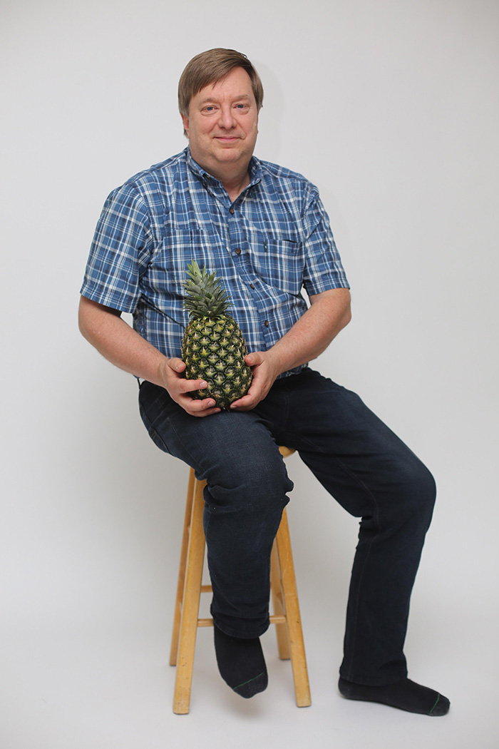 dad loves his pineapple