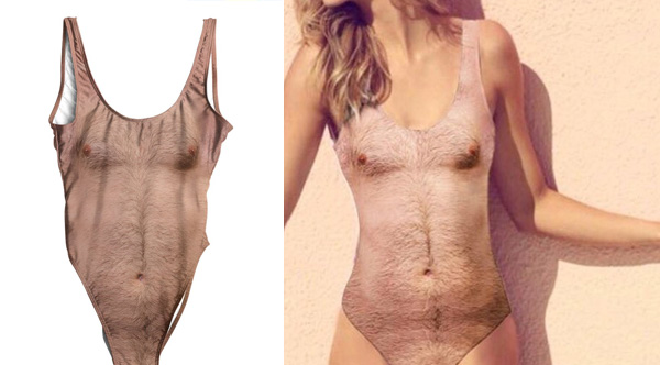 This Hairy Chest Women's Swimsuit Is Selling Like Crazy
