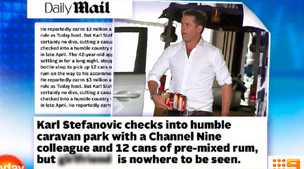 Karl Stefanovic goes off on Daily Mail