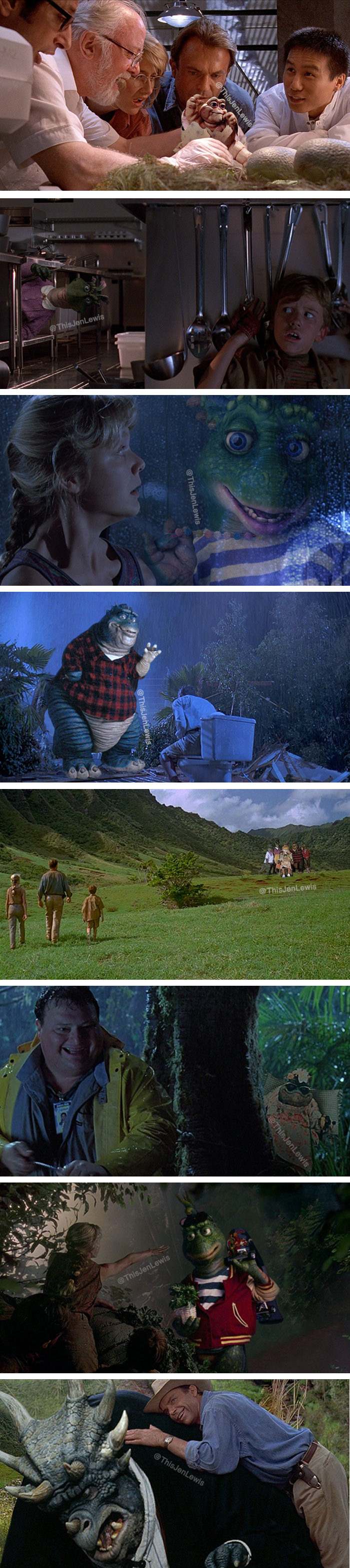 Jurassic Park but the dinosaurs are from the 90s TV show