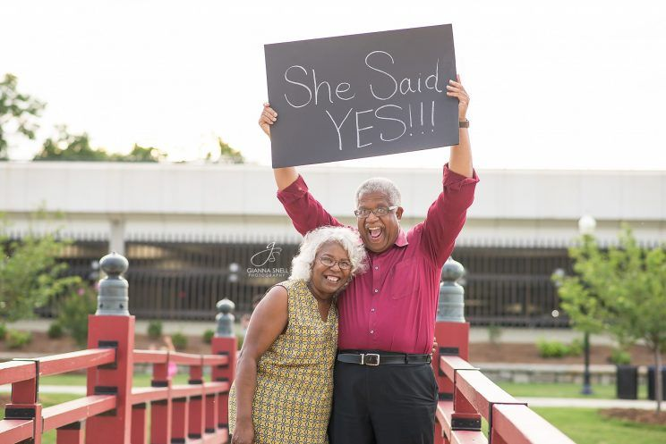 elderly couple never too late to fall in love