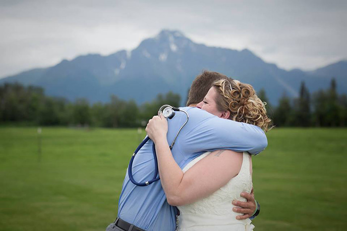 woman meets heart transplant at wedding surprise