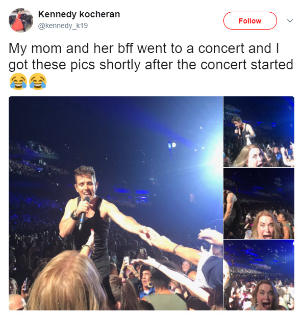 mom freaks out at New Kids on the block concert