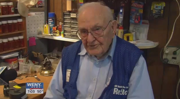 100 year old volunteer good news