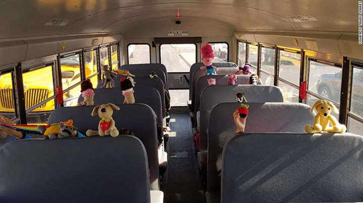 bus driver makes hand made toys for kids