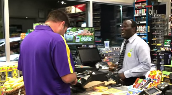 Awesome Gas Station Cashier Has Dance Off With Customer