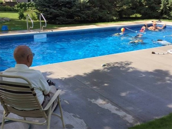 old man builds pool for kids wife dies