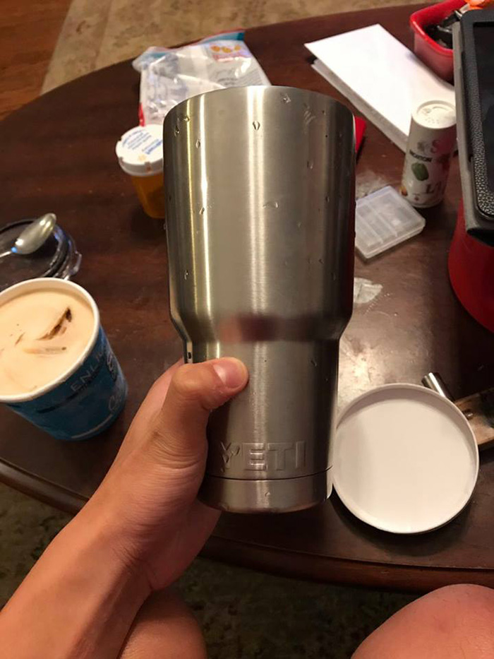 a3af15d2fa7 This Guy Discovered That A Pint Of Ice Cream Fits Perfectly In A Yeti Cup
