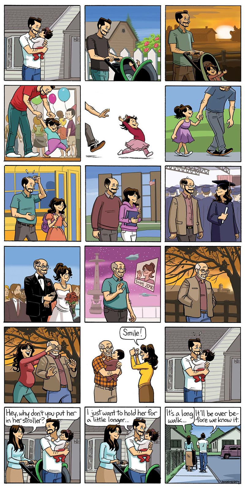 This Comic Strip About Growing Old Hits You Right In The Feels  Nust1-growing-old-comic-all-the-feels