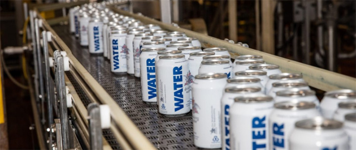Busch water for Hurricane Harvey