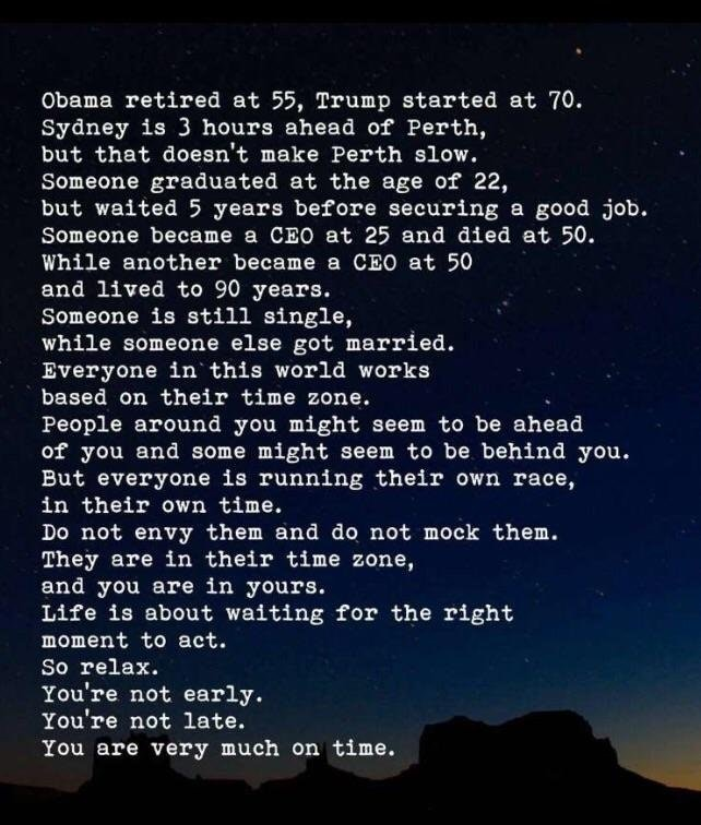 you are very much on time