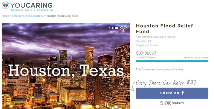 JJ Watt raises 37 million Houston flood