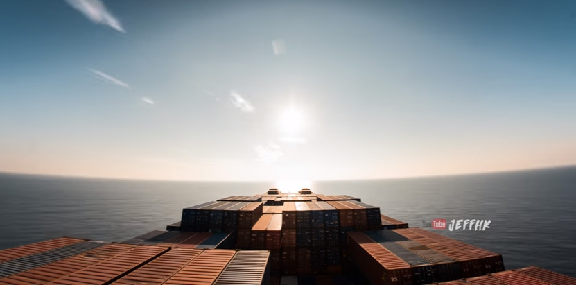 timelapse cargo ship 30 days