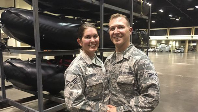 military couple cancels wedding to help IRMA victims