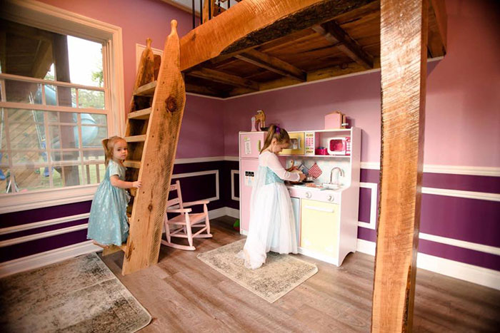 This Dad Built His Daughters The Most Epic Playhouse You'll Ever See  Phxtr-dad-builds-epic-playhouse-for-daughters-5