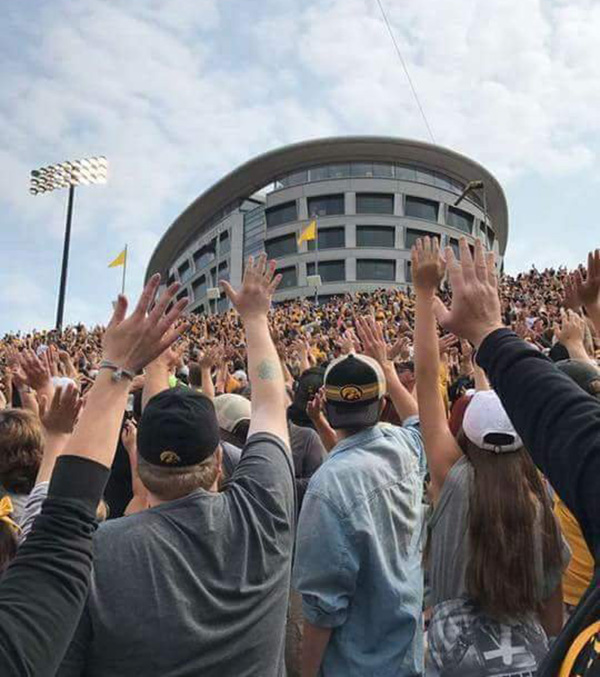 Iowa fans wave to children hospital new tradition