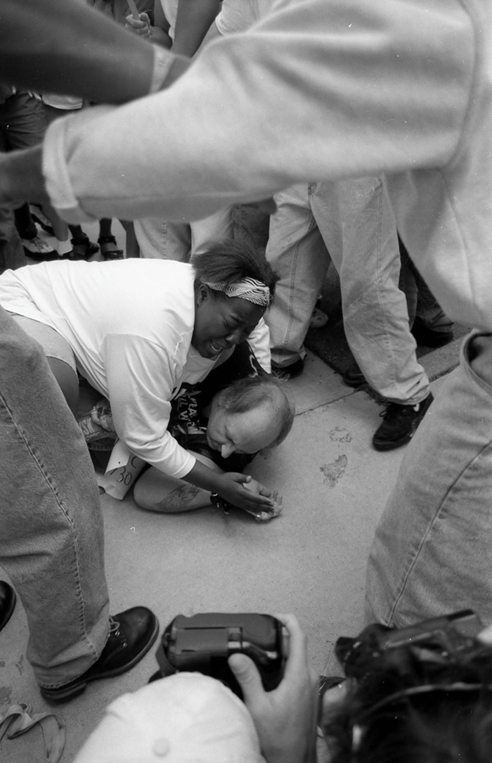 black woman saves kkk man