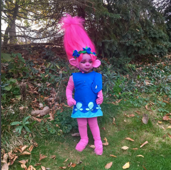 little girl Trolls costume