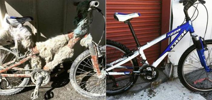 thousands bikes burning man donated to Houston hurricane victims