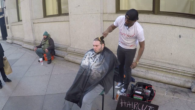 barber for homeless gets new shop from stranger